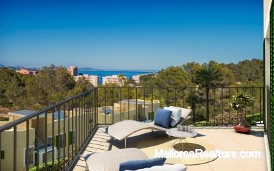 Apartments in Cala Vinyes with sea views