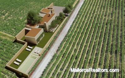 Magnifico proyecto de finca rustica con viñedo en Mallorca