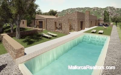 project for a country house with a vineyard in Sineu