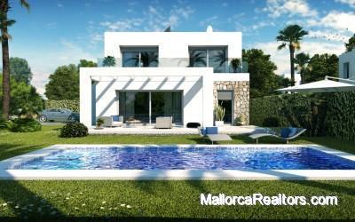 Villas de estilo minimalista de 3 dormitorios cerca de la playa de Es Trenc